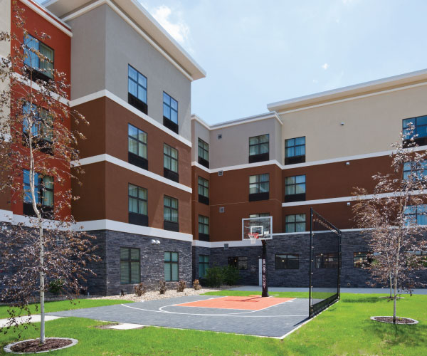 Homewood Suites Basketball Court In Iowa